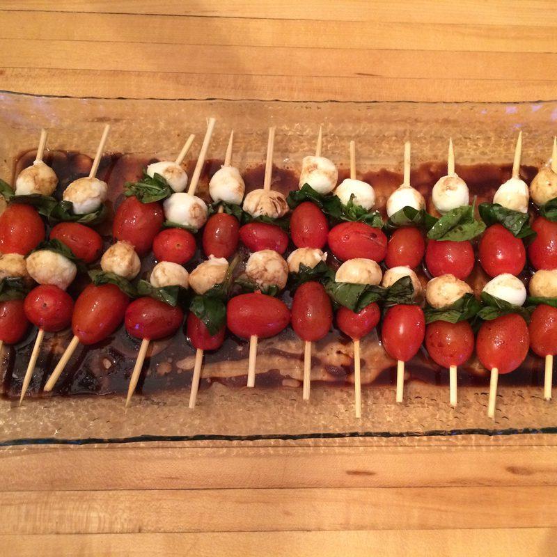 Caprese salad sticks