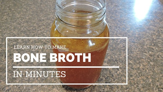 Learn how to make bone broth in minutes