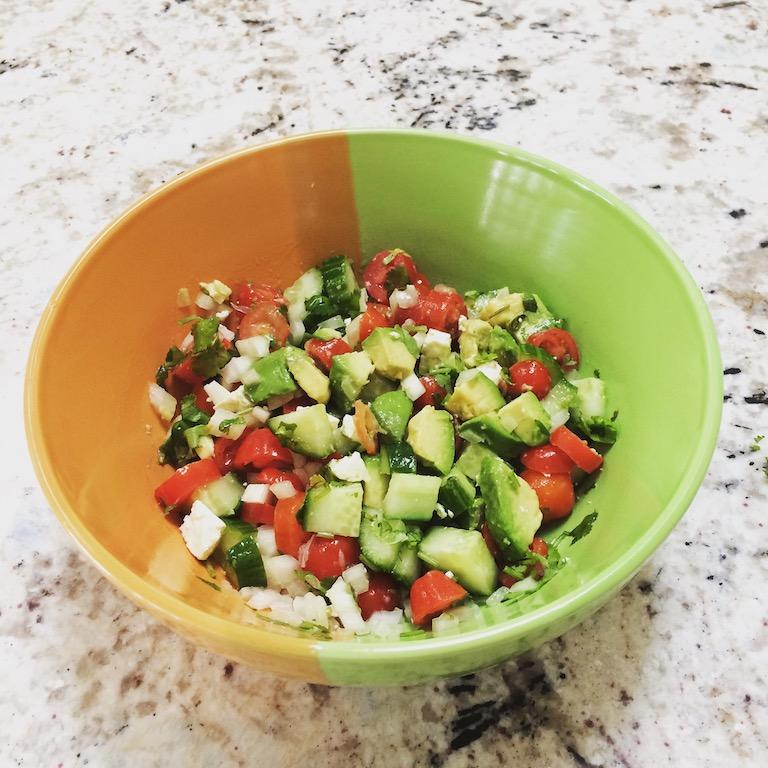 Avocado Cucumber Tomato Salad